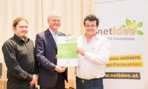 Georg Regal, Klaus Höckner und Ernst Langmantel - Urkundenübergabe beim netidee Event 2014