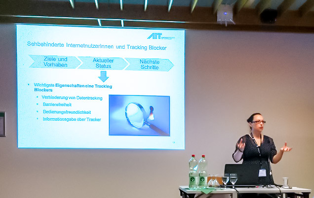 Presentation of BlindFaith by Elke Mattheiss at the IKT-Forum
